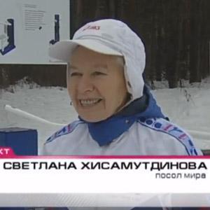 70 летняя спортсменка, которая дважды оббежала планету, прибыла в Челябинск